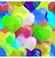 Balloon Hearts Low Poly Pattern vector image
