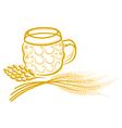 Beer hops barley vector image