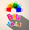 Big Sale Colorful Paper Title with Transparent vector image