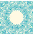Blue and beige orchid flower frame vector image vector image
