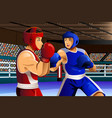 boxers fighting in ring vector image vector image