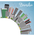 brasilia skyline with gray buildings blue sky and vector image vector image