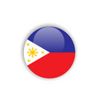 button philippines flag template design vector image vector image