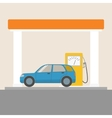 Car at the gas station vector image vector image