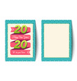 card for new year 2020 vector image