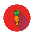 carrot simple icon on white background vector image vector image