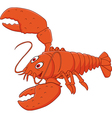 Cartoon happy lobster posing isolated vector image vector image