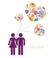 colorful oriental flowers couple in love vector image vector image