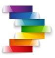 Colorful rainbow shiny paper stripes banners arrow vector image vector image
