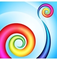 Colorful swirl shape vector image