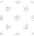 compass on earth pattern seamless vector image vector image