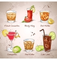 Contemporary Classics Coctail Set vector image vector image