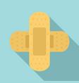 cross bandage icon flat style