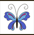 cute cartoon butterfly isolated on white vector image