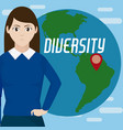 diversity around the world vector image