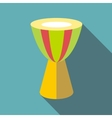 Ethnic drum icon flat style vector image vector image