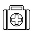first-aid kit line icon 96x96 pictogram vector image vector image