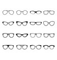 glasses icon set eyeglasses optical fashion vector image