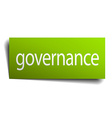 governance green paper sign isolated on white vector image vector image