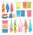 hanging towels hang fabric soft color fresh vector image