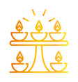 happy diwali india festival candles light flame vector image vector image