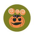 happy halloween creepy pumpkin candy in sticks vector image vector image
