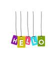 hello word vector image vector image