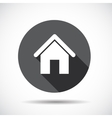 Home Flat Icon with long Shadow vector image vector image