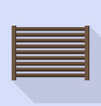 horizontal wood fence icon flat style vector image vector image
