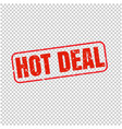 hot deal stamp isolated transparent background vector image vector image