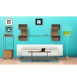 Living Room Isometric Design vector image vector image