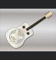 metal resonator guitar vector image vector image