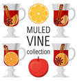mulled wine collection poster on white background vector image