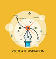pen tool and bezier curve concept modern vector image