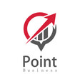 point business arow logo vector image vector image