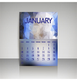 Polygonal 2016 calendar design for JANUARY vector image