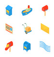 port safety icons set isometric style vector image vector image