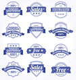 premium quality sales free labels with retro vector image vector image