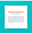Programming Paper Template vector image vector image