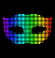 rainbow dotted privacy mask icon vector image