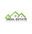real estate logo designs simple and modern vector image