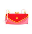 red baguette bag vector image