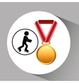 roller skating medal sport extreme graphic vector image vector image