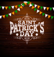 saint patricks day design with national color flag vector image vector image