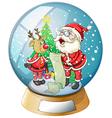 Santa Claus Crystal Ball vector image vector image