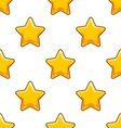 Seamless pattern with cartoon star vector image vector image