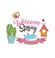 seasonal weather spring vector image