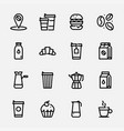 set icons coffe vector image vector image