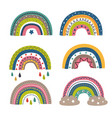 set isolated colorful rainbows part 1 vector image vector image