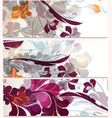 set of business cards with futuristic ornament vector image